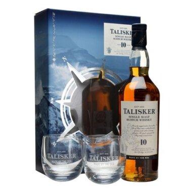 Talisker 10 Ani Single Malt Whisky Giftbox 2 Pahare