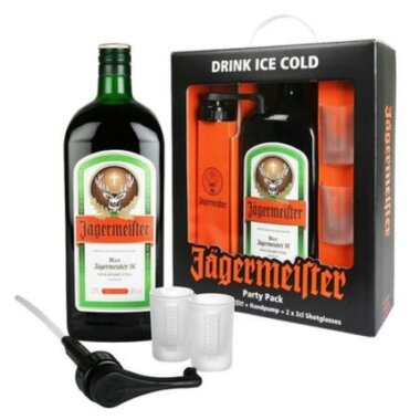 Jagermeister Party Pack Cu 2 Pahare & Pompa Extragere